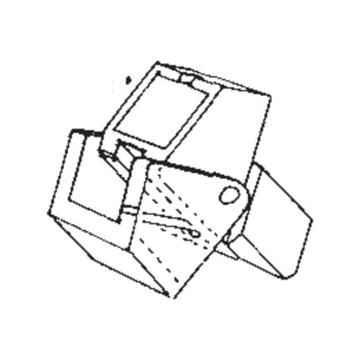 R-PSX-10 Stylus for A.D.C. PSX-10 : Brand:ADC, Info:Original Stylus (Blue), Stylus:Spherical